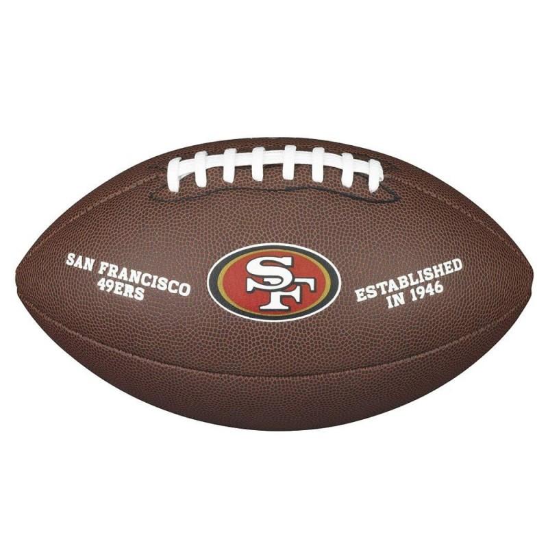 WTF1748XBSF_Ballon Football Américain NFL San Francisco 49ers Wilson Licenced