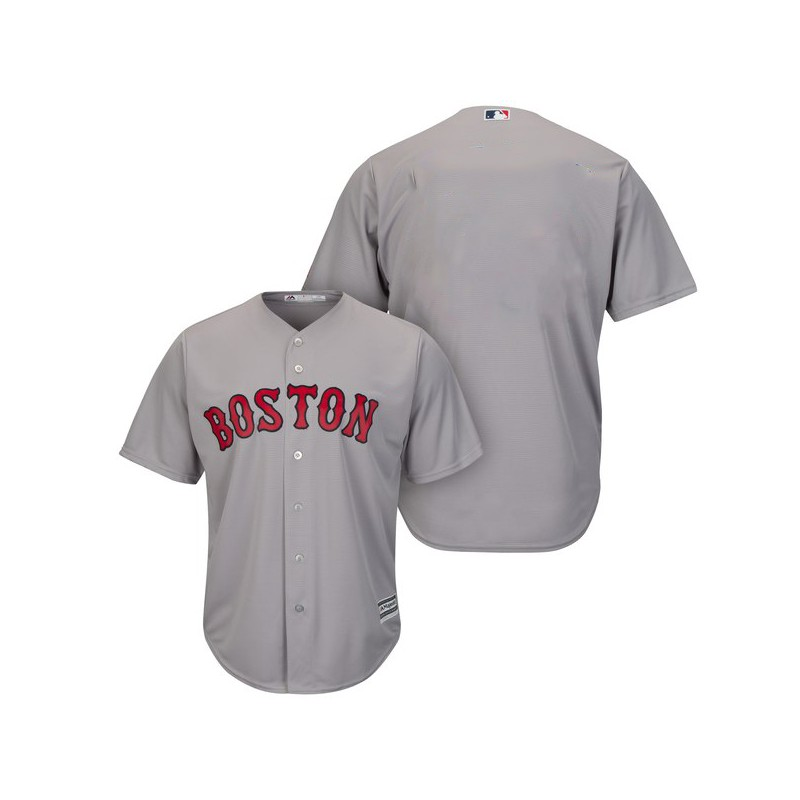 Maillot MLB Boston Red Sox Replica Cool Base Gris Pour Homme