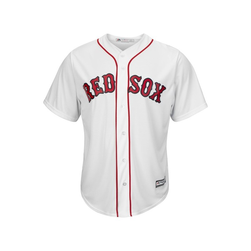 Maillot MLB Boston Red Sox Replica Cool Base Blanc Pour Homme