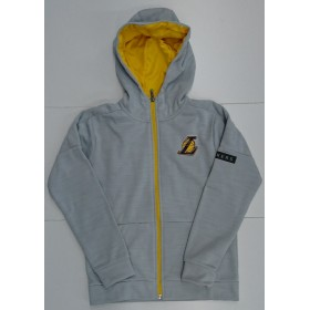 EK2B7BA6U-LAK_Veste Zippé NBA Los Angeles Lakers Outer Stuff Enduring Gris pour Junior