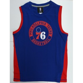 EK2B7BA6V-76R_Débardeur NBA Philadelphia 76ers Outer Stuff Pre-Game Muscle Bleu pour enfant