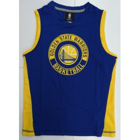 EK2B7BA6V-WAR_Débardeur NBA Golden State Warriors Outer Stuff Pre-Game Muscle Bleu pour enfant
