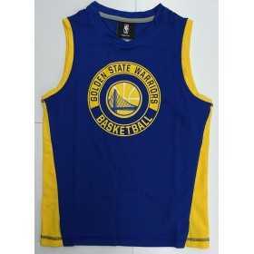 EK2B7BA6V-WAR_Débardeur NBA Golden State Warriors Outer Stuff Pre-Game Muscle Bleu pour enfant