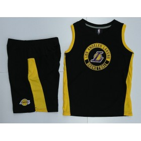 EK2B7BA65-LAK_Débardeur et short NBA Los Angeles Lakers Outer Stuff the leader Muscle Noir pour enfant