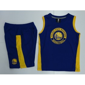 EK2B7BA65-WAR_Débardeur et short NBA Golden State Warriors Outer Stuff the leader Muscle Bleu pour enfant
