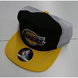 EK2BOBA2F-LAK_Casquette NBA Los Angeles Lakers Outer Stuff Meshback Flatbrim réglable Noir pour enfant
