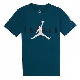 955175-U9C_T-shirt Jordan Brand 5 Bleu Turquoise Pour Enfant