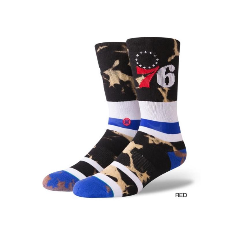 M558C1876E_Chaussettes NBA Philadelphia 76ers Stance Arena Acid Wash Bleu