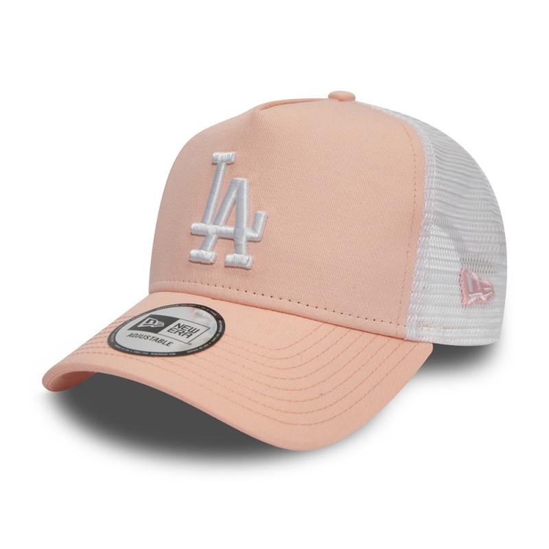 11945647_Casquette MLB Los Angeles Dodgers New Era League Essential Trucker 2 Rose