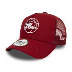 11945639_Casquette NBA Philadelphia 76ers New Era Essential Trucker 9Forty rouge