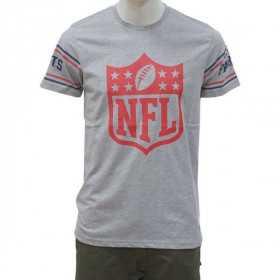 574aaf32728 T-Shirt NFL New England Patriots New Era Badge Gris pour homme