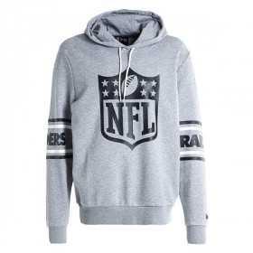 Sweat à Capuche NFL Oakland Raiders New Era Badge Gris pour homme /// 11935181