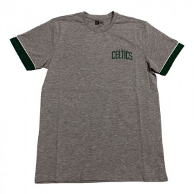 T-Shirt NBA Boston Celtics New Era Stripe pipping Gris pour Homme //// 11935235