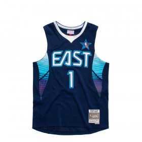 SMJYEL18014-A-SENAVYAIV09_Maillot NBA Allen Iverson All star East 2009 Mitchell & ness Hardwood Classic swingman Bleu