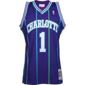 Maillot NBA Muggsy Bogues Charlotte Hornets 1992-93 Mitchell & ness Hardwood Classic swingman Bleu