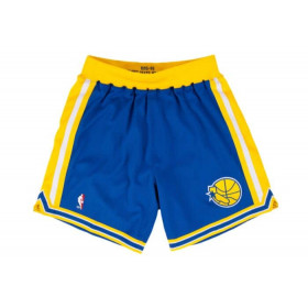Short NBA Golden State Warriors 1995-96 Mitchell & Ness Swingman Bleu pour Homme