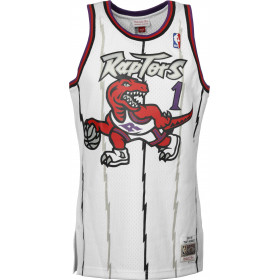 Maillot NBA Tracy Mcgrady Toronto Raptors 1998-99 Mitchell & ness Hardwood Classic Swingman Blanc