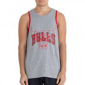 11935245_Débardeur NBA Chicago Bulls New Era Double Logo Gris pour homme