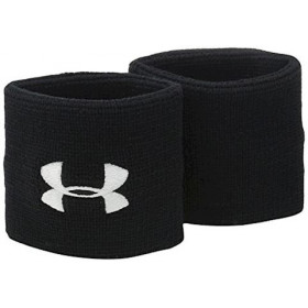 "1276991-001_Bandeaux poignet Under Armour performance wristband 3"" Noir"