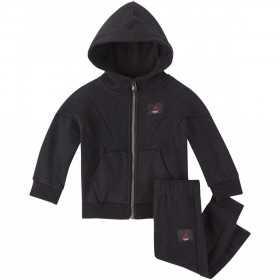 655991-023_Sweat à capuche zippé et pantalon pour enfant Jordan Jumpman Flight Noir