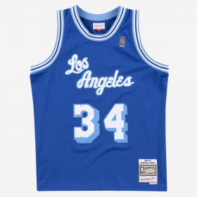 SMJYAC18013_LALROY96ON_Maillot NBA swingman Shaquille O'Neal Los Angeles Lakers 1996-97 Hardwood Classics Mitchell & ness Bleu