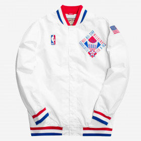 AWJKAC18012-ASEWHIT91_Warm up NBA All Star Game 1991 Mitchell & Ness Authentic Jacket Banc pour homme