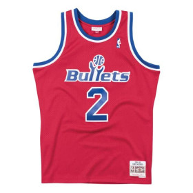 SMJYGS18220_WBUSCAR94CWE_Maillot NBA Chris Webber Washington Bullets 1994-95 Hardwood Classics Mitchell & ness Rouge