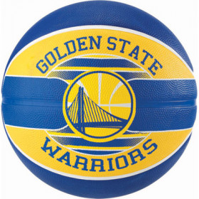 Ballon de Basketball exterieur Spalding NBA Golden State Warriors bleu