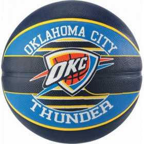 Ballon de Basketball exterieur Spalding NBA Oklahoma City Thunder Bleu