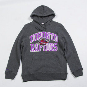 Sweat à Capuche NBA Toronto Raptors Mitchell & ness Playoff Win Hoody Gris fonce pour Homme ////BA47P3-TOR-G-K00