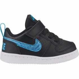 Chaussure Nike Court Borough Low EP pour Bébé Noir ///BV0749-001
