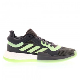Chaussure de Basketball adidas Marquee Boost Low Gris/Vert pour Homme //// G26214