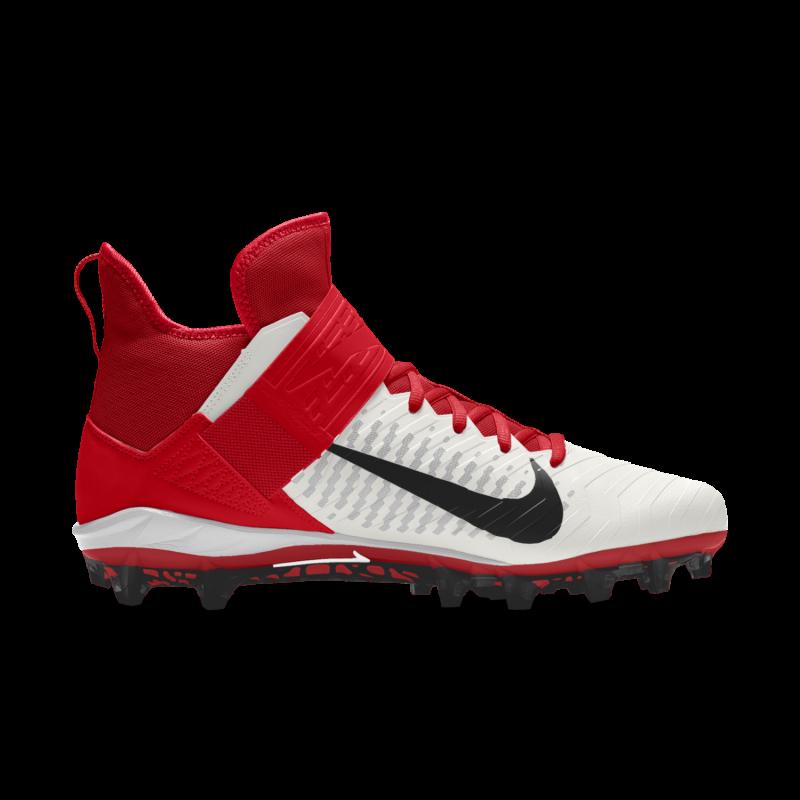 Crampons de Football Americain moulés Nike Alpha Pro Mid 2 Rouge Pour Hommes
