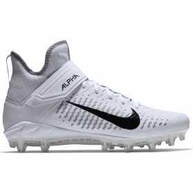 Crampons de Football Americain moulés Nike Alpha Pro Mid 2 Blanc Pour Hommes //// AQ3209-100