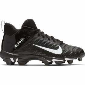Crampons de Football Americain moulés Nike Alpha Menace Shark 2 Mid Noir Pour Hommes //// AQ7653-001