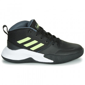 Kid's adidas Ownthegame K Wide black gold Basketball Shoe