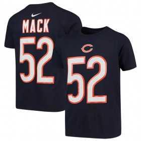 EZ1B7FBNU-BRSKM_T-Shirt NFL Khallil Mack Chicago Bears Nike Pride Bleu marine pour Junior