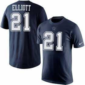 EZ1B7FBNU-COWEE_T-Shirt NFL Ezekiel Eliott Dallas Cowboys Nike Pride Bleu marine pour Junior