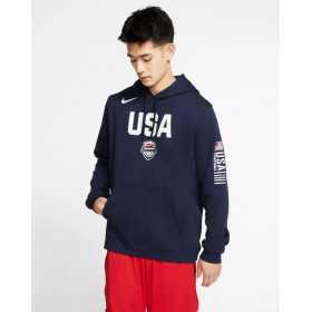 CJ6194-451_Sweat à capuche Nike USA Basketball Club Fleece Navy pour homme