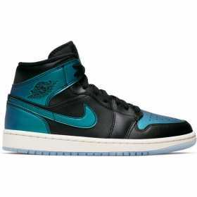 Chaussure Jordan 1 Mid BLACK/PALE IVORY pour enfant /// BQ6472-009