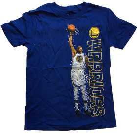EK2B3TD99B35KD_T-shirt NBA Kevin Durant Golden State Warriors Pixel Player Bleu pour enfant