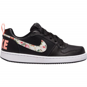 Chaussure de Basket Nike Court Borough Low Vintage Floral (GS) Junior Noir  //// BQ7031-001