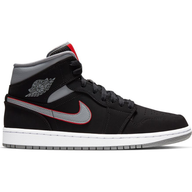 air jordan 1 mid noir rouge