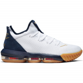 "CI2668-101_Chaussure de Basketball Nike LeBron XVI Low ""Olympic USA"" Blanc pour Homme"