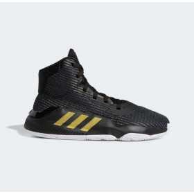 EF0868_Chaussure de Basketball adidas Pro Bounce 2019 J Noir Gold Pour Junior