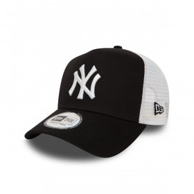 11588491_Casquette MLB New York Yankees New Era Clean Trucker Noir wht