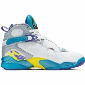 Womens' Air Jordan 8 Retro Shoe white