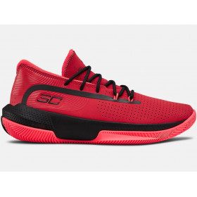 3022117-601_Chaussures de Basketball Under Armour SC 3Zero III Rouge Pour Junior