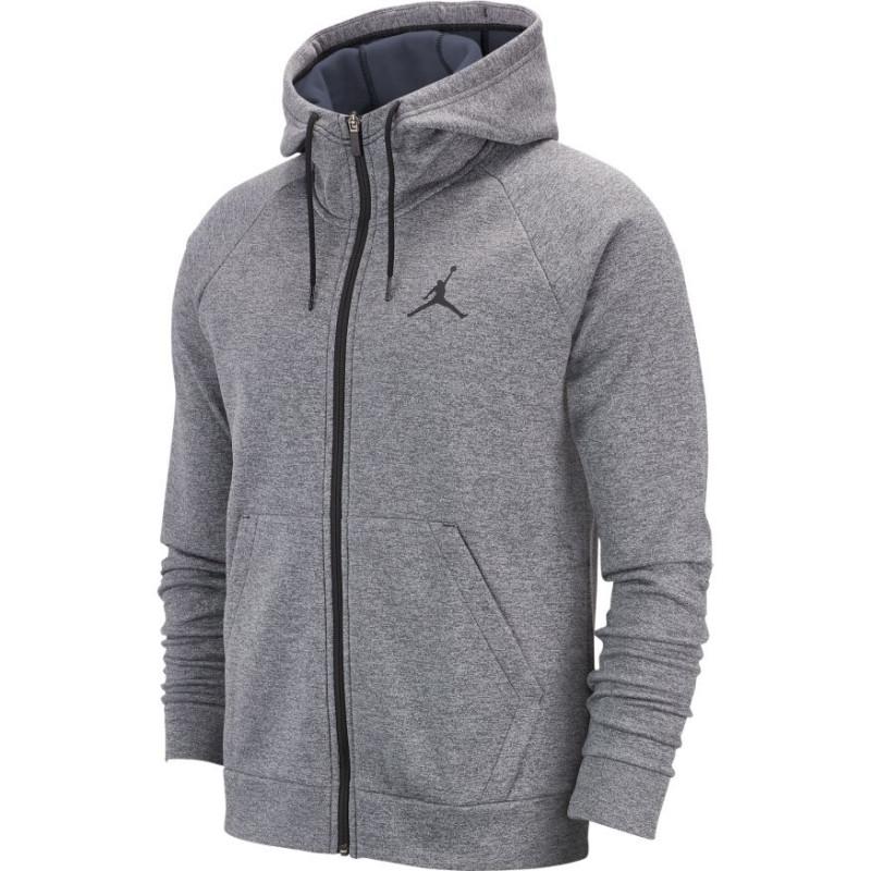 veste a capuche zippe homme gris
