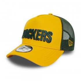 12040247_Casquette MLB Greenbay Packers New Era Reverse Team Trucker Jaune